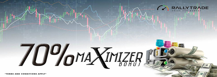 Receive 70% Maximizer Deposit Bonus on RallyTrade