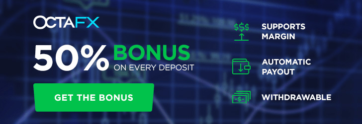 Grab your 50% Deposit Bonus (Each Deposit) on OctaFX