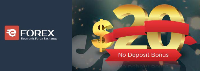 Free $20 Welcome No Deposit Bonus from EForex
