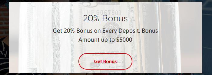 20% Deposit Bonus up to 5000 USD from G44FX