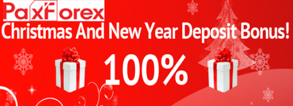 Christmas and a Happy New Year 2015 Deposit Bonus – PaxForex