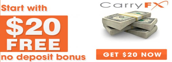 $20 Forex Free No Deposit Bonus all Live Trading Account – Carry FX
