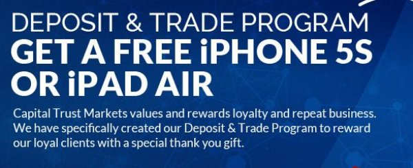 Deposit your Account and Trade Get a free iPhone5s or IPad Air - CTM