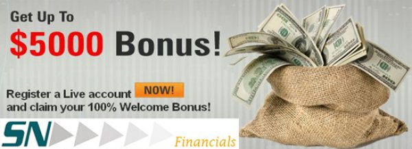 100% Welcome Deposit Bonus all New activated Clients - S N Financials