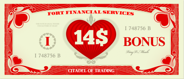 $14 Forex No Deposit Valentine Bonus For All Clients - Fort Financial