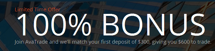100% Forex Special Bonus to Your First Deposit - AvaTrade