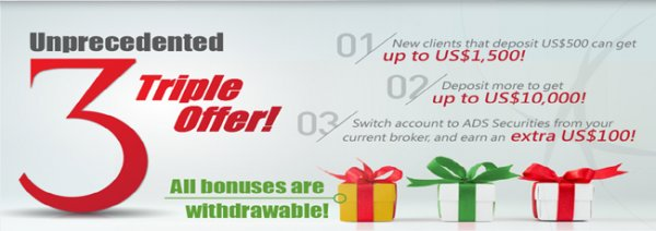 Up to $1500 Receive a Withdrawable Deposit Bonus - ADS Securities
