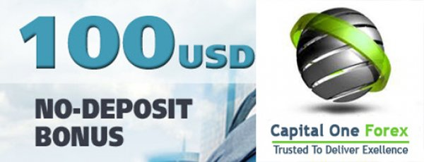 $100 No Deposit Bonus every new registered client - Capital One Forex
