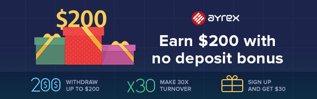 Earn $200 with Binary No Deposit Bonus - Ayrex