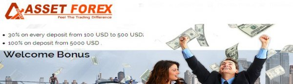 100% Forex  Welcome Bonus on Deposit from $5000  - AssetForex
