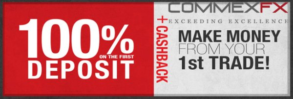 100% Forex Deposit Bonus on Your First Deposit - CommexFX