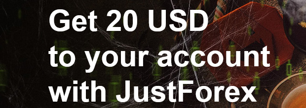 20 USD Free to your live account with JustForex