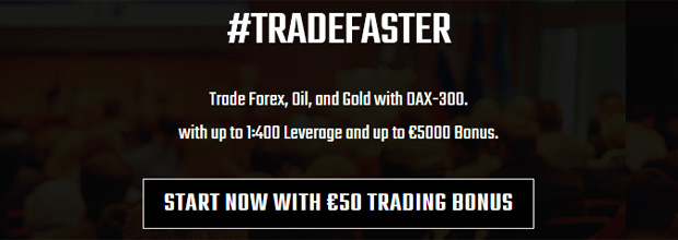 50 EUR Welcome Trading Bonus on DAX-300
