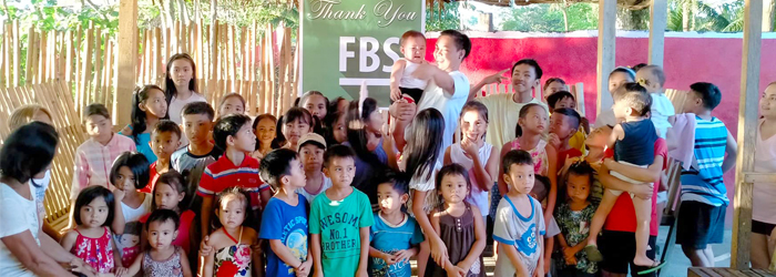 FBS sponsored a party for poor children in Butuan City, the Philippines