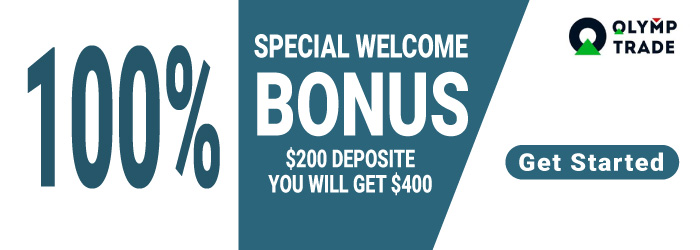$100 Deposit you will get $200 on OlympTrade