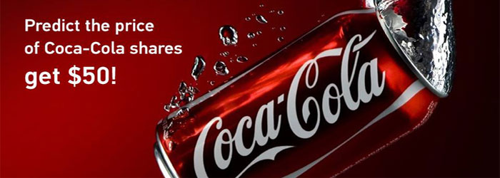 Free $50 Predict the Prize of Coca-Cola Shares