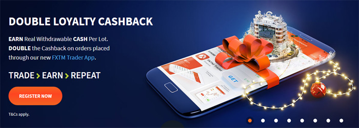 Receive Double Loyalty Cashback from FXTM