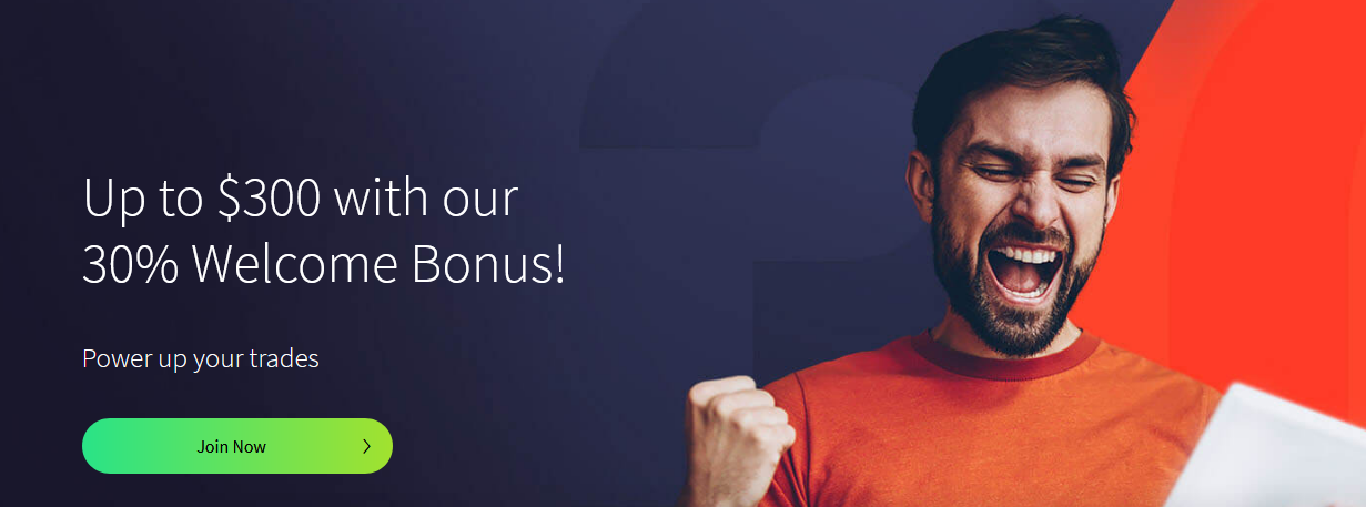 30% Welcome Bonus up to $300 on ForexTime
